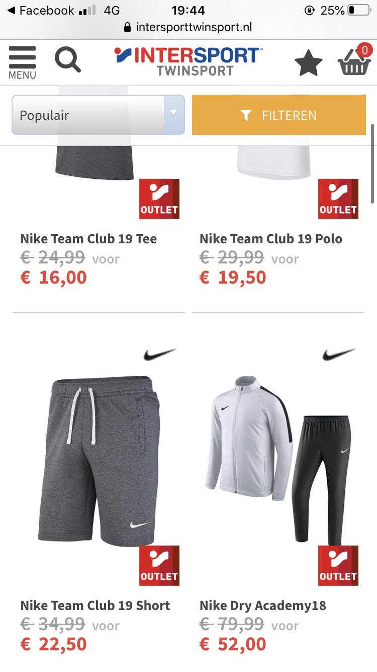 Nike kleding 30% off
