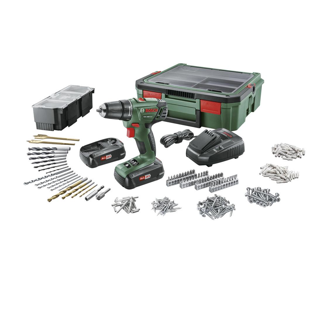 Bosch accu boormachine PSR1800 + SystemBox