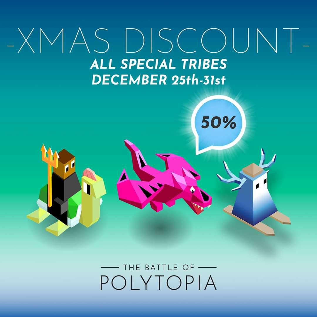 50% korting op de 3 speciale stammen in polytopia