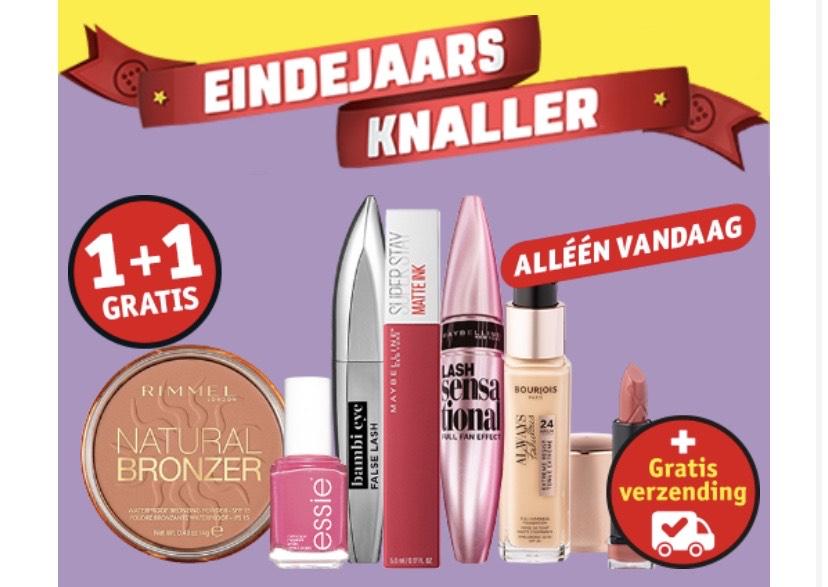 Alle make-up 1+1 gratis + gratis verzending vanaf €20,- (muv Catrice & Essence) @ Kruidvat