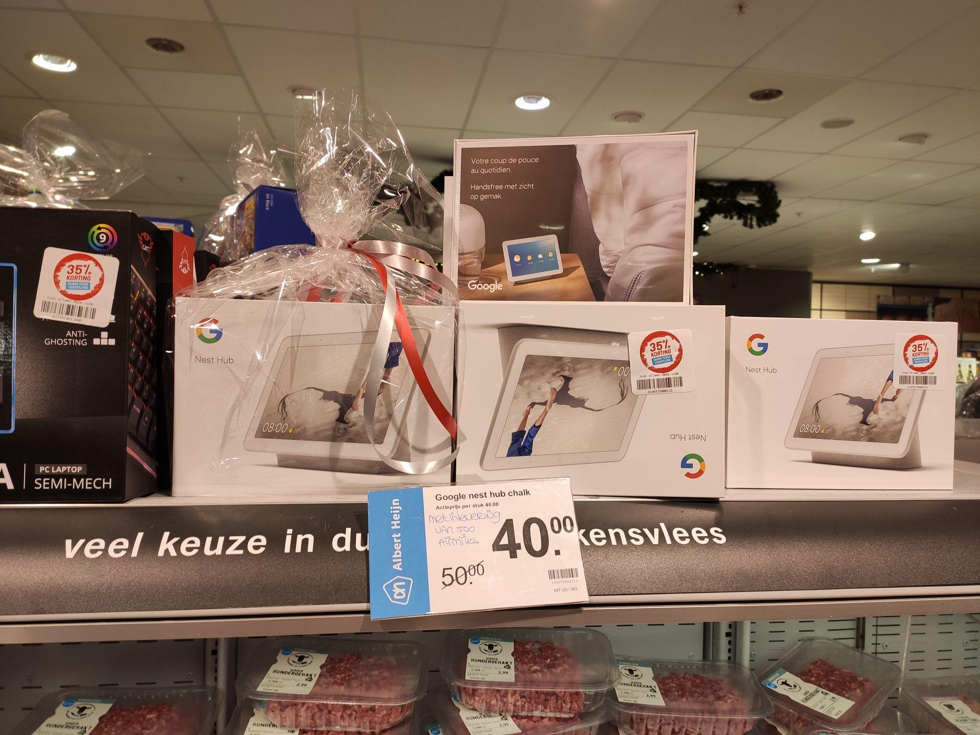 Google hub voor 50/40 euro
