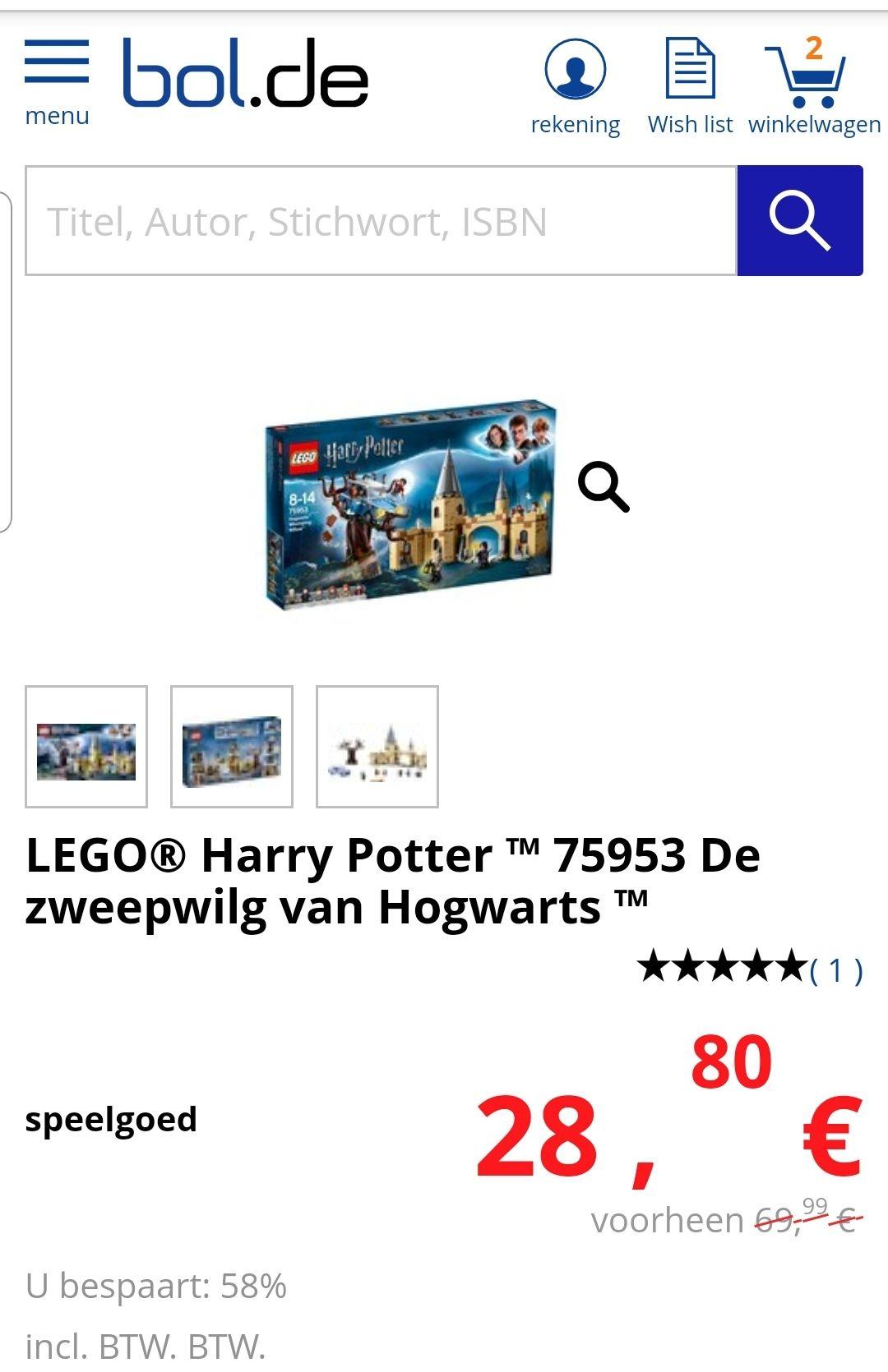 Lego De Zweinstein Beukwilg (75953)