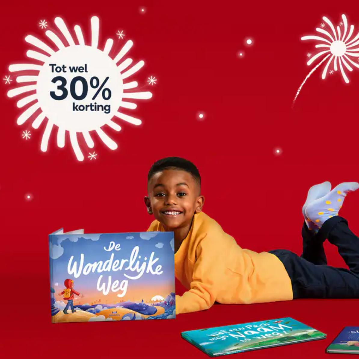 10 tot 30% korting op gepersonaliseerde kinderboeken van Wonderbly