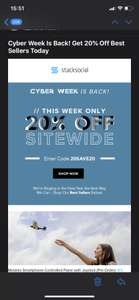 Cyber Week Is Back! Get 20% Off Best Sellers Today