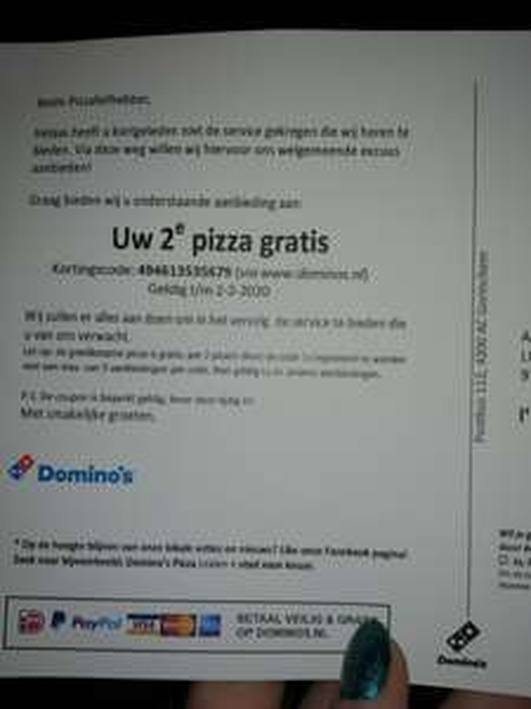 Domino's 1+1 gratis