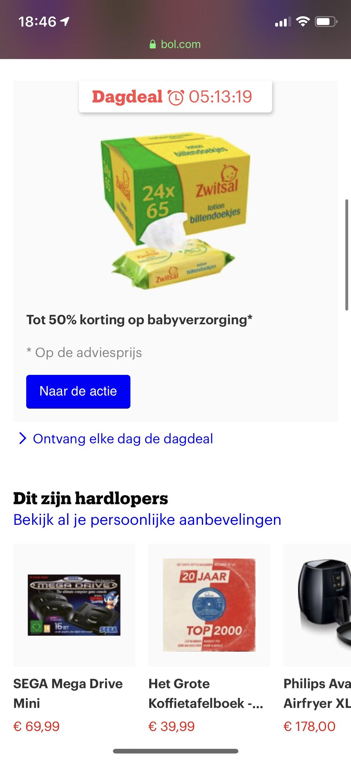 Tot 50% korting op babyverzorging bij Bol.com
