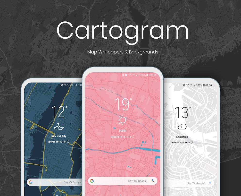 [Gratis op Google Play] Cartogram - Live Map Wallpapers