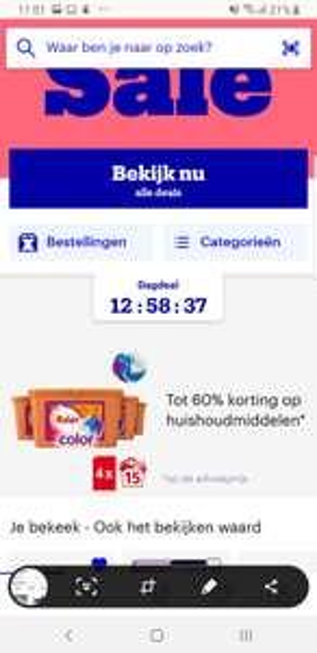 Bol.com dagdeal tot 60% korting op huishoudmiddelen.