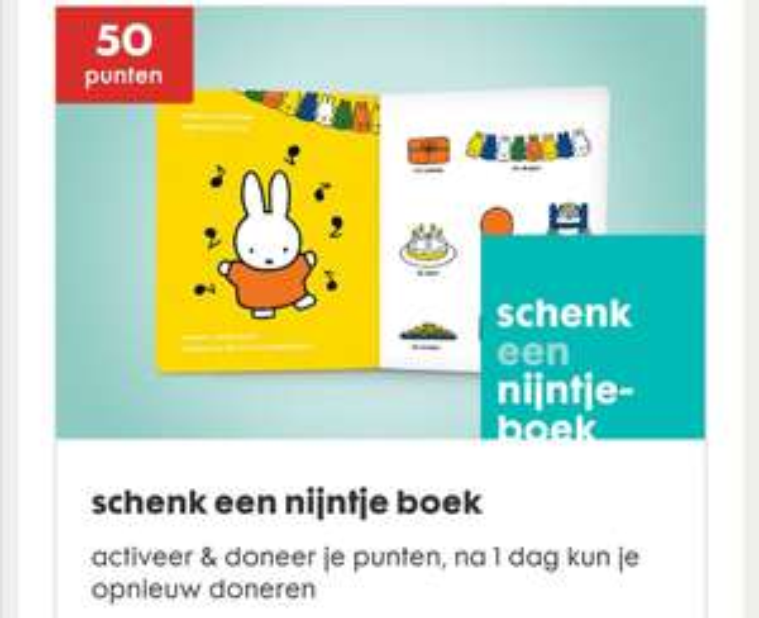 Schenk een Nijntje boek tegen inlevering van 50 Meer HEMA punten @ HEMA