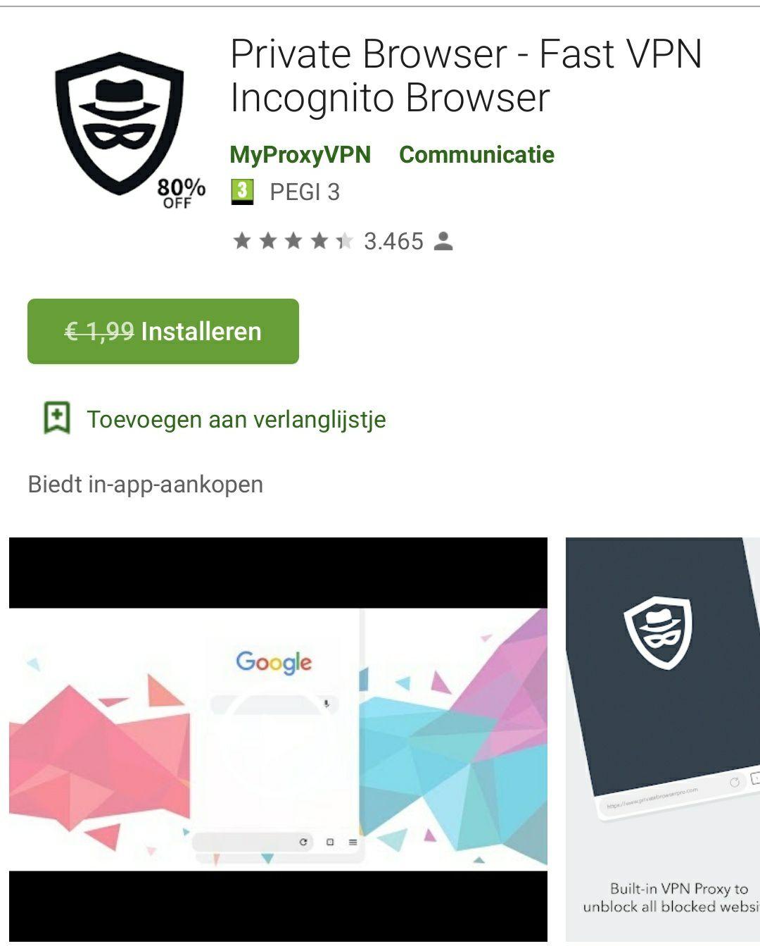 Private Browser - Fast VPN Incognito Browser