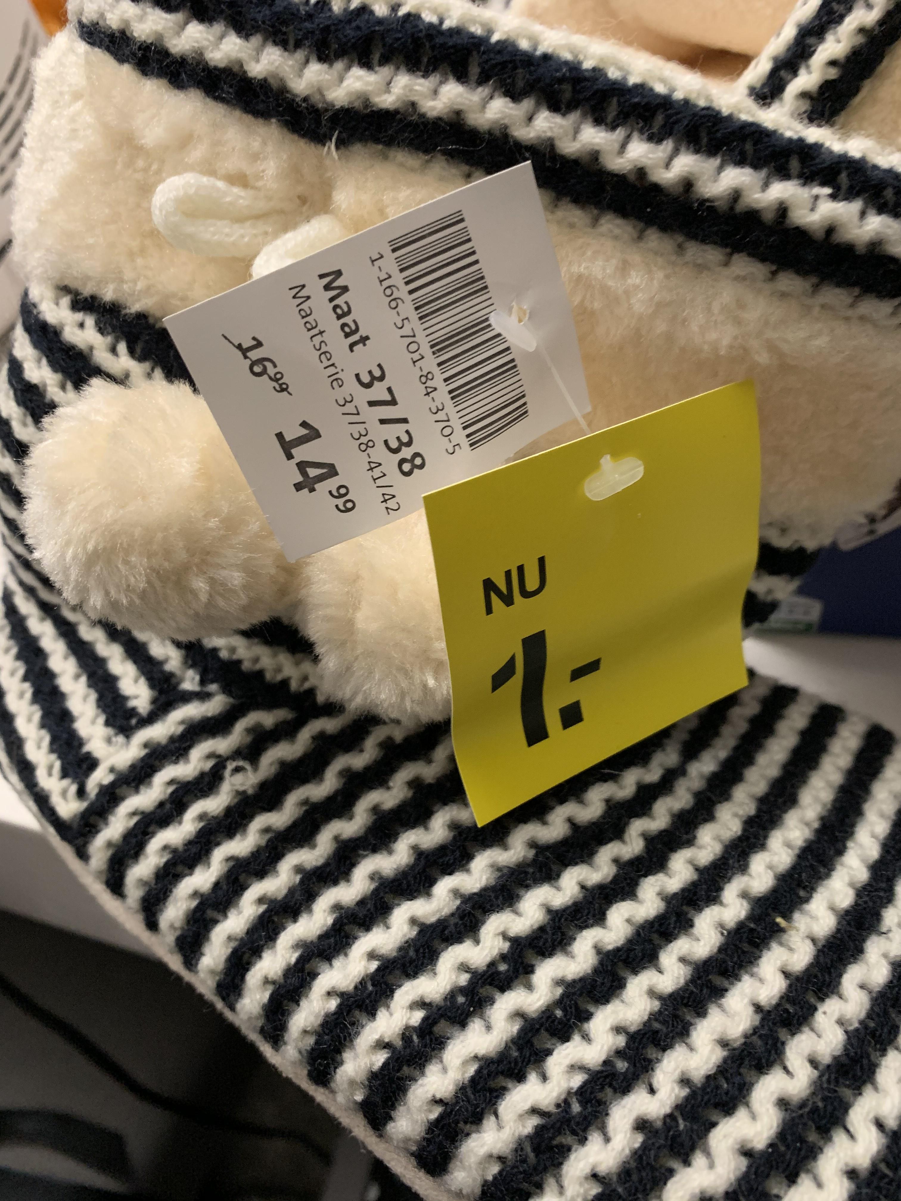 Pantoffels voor €1 bij Scapino Vlijmen