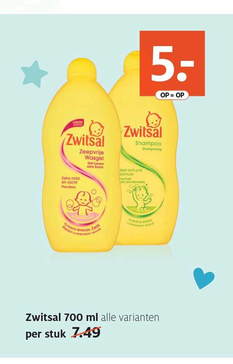 [Lokaal Leeuwarden Etos] Zwitsal shampoo of Zeepvrije wasgel 700 ml €1,50