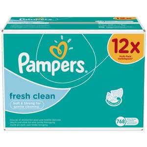 Pampers fresh clean billendoekjes 768 stuks!