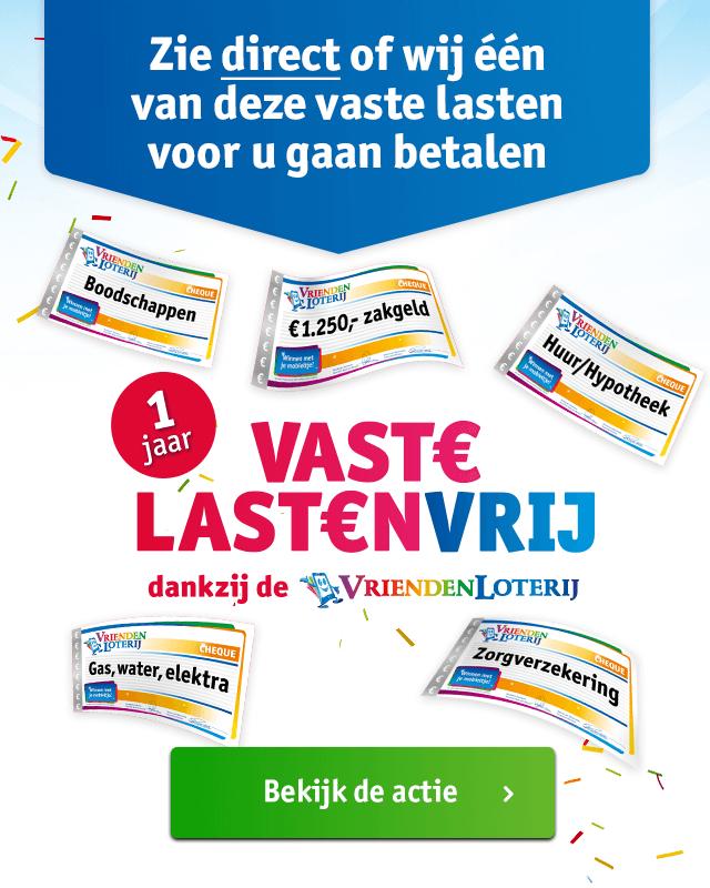 (gratis geld) 15 euro + cashback/cadeaukaart bij meespelen Vriendenloterij