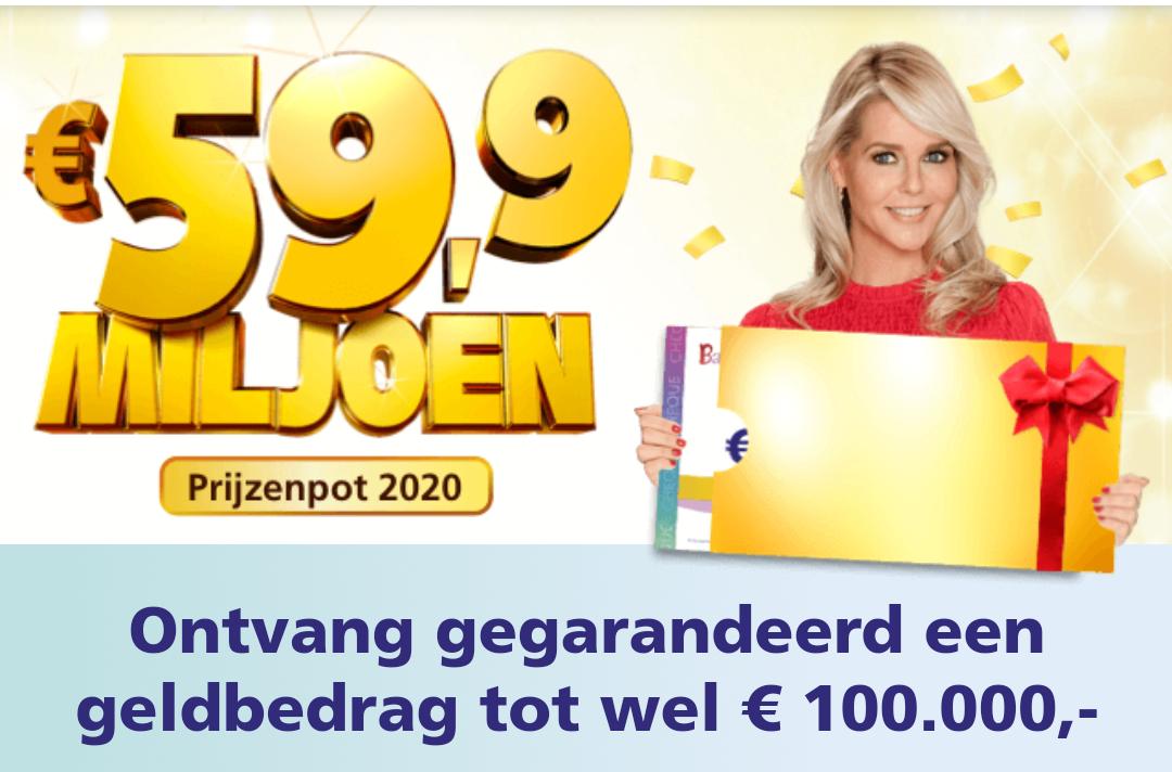 Gratis geld Bankgiroloterij: €20,- bij 1 maand meespelen.
