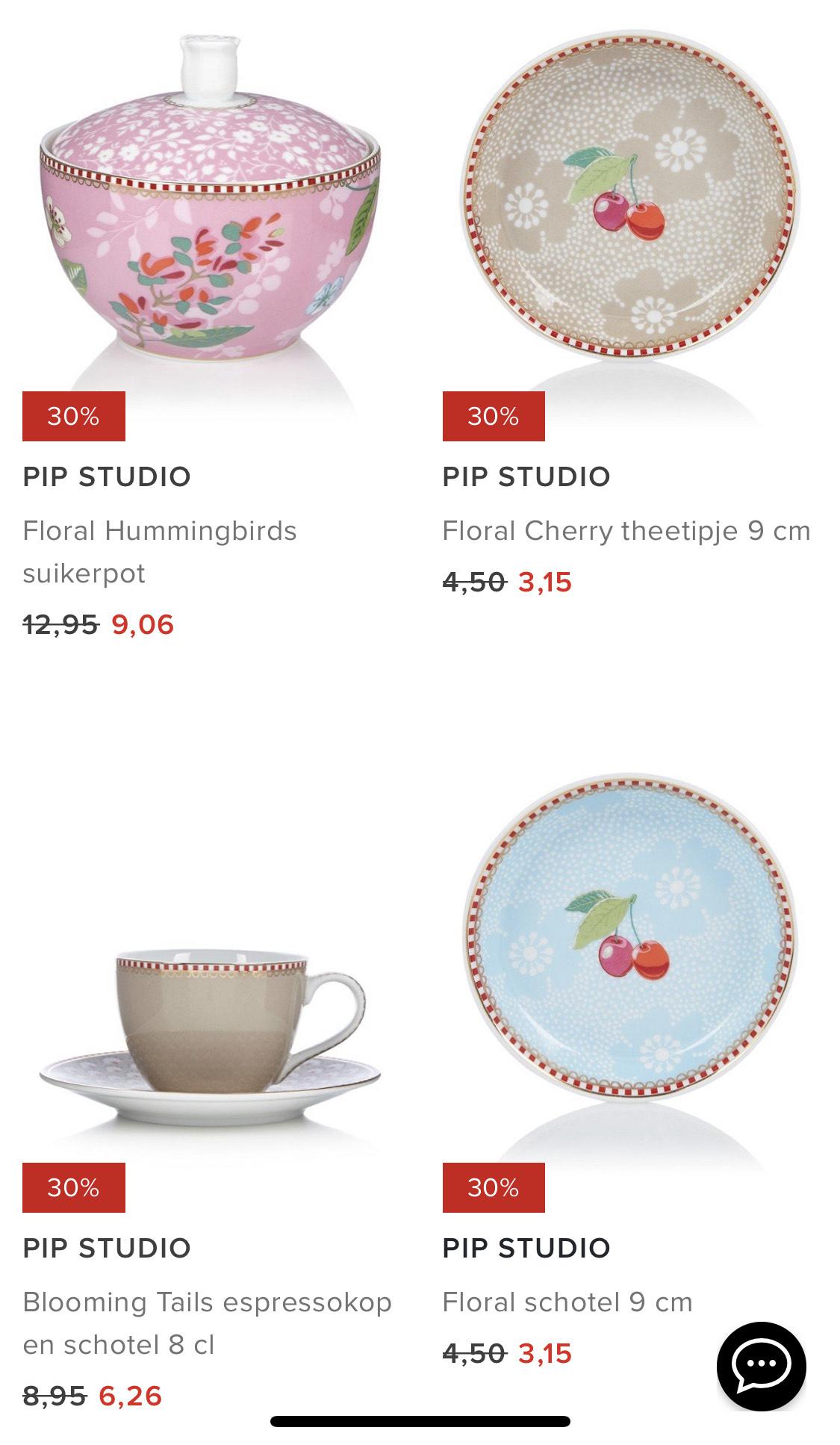 30% korting op veel Pip Studio bij Bijenkorf
