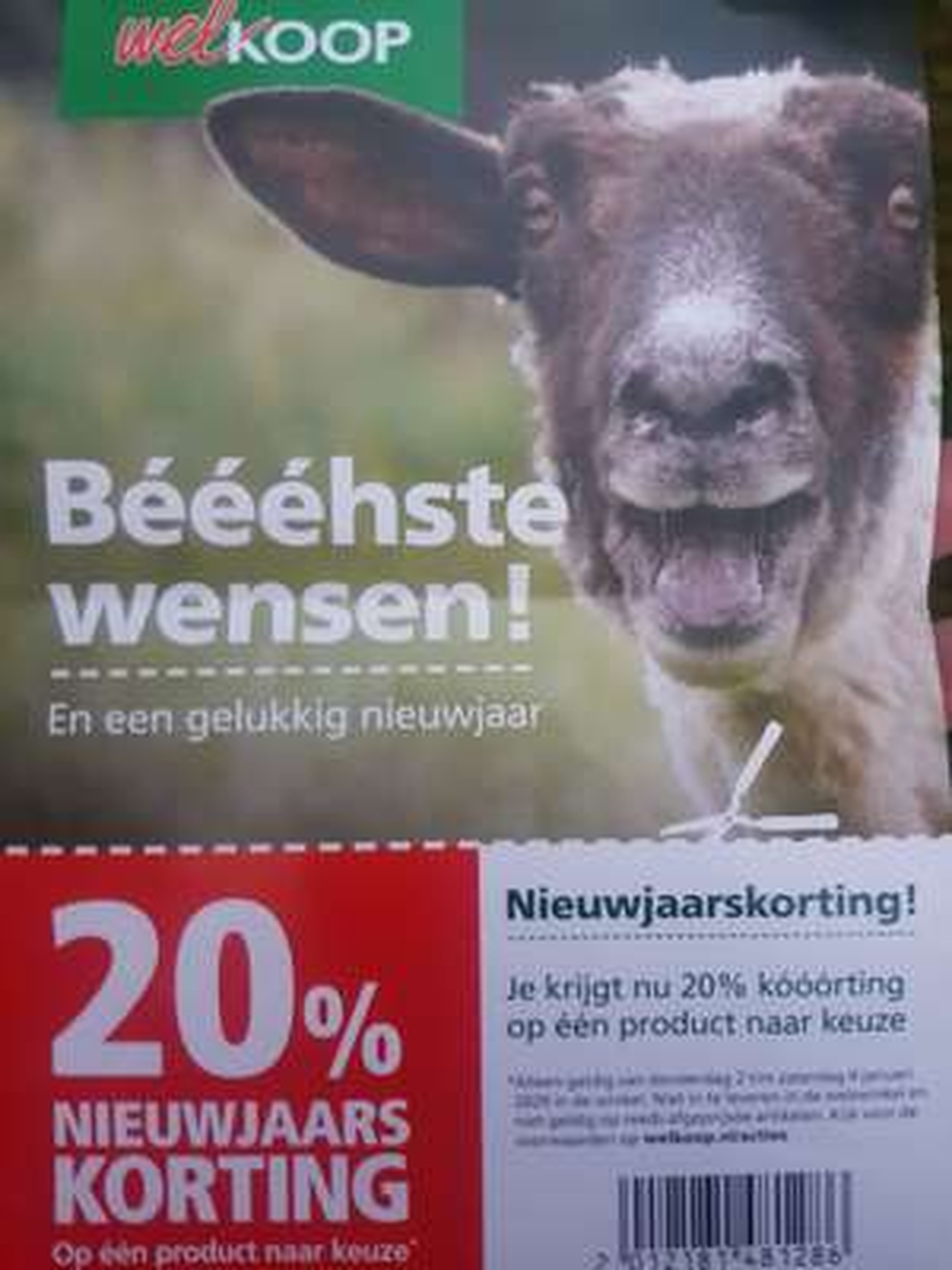 20% korting bij Welkoop (2 t/m 4 jan)
