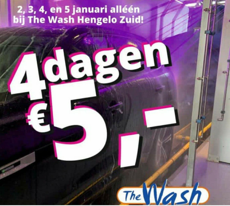 [The Wash Car Wash & Lokaal] 4 dagen lang meest complete pakket voor €5