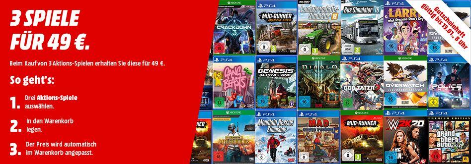 [Grensdeal Duitsland] €49 of €79 voor 3 games (Switch, PS4, Xbox One, PC) @ Mediamarkt