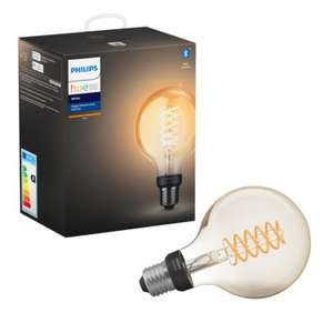 Philips Hue white LED filament Globe E27 met bluetooth @ Karwei (+10% korting bij Hornbach)