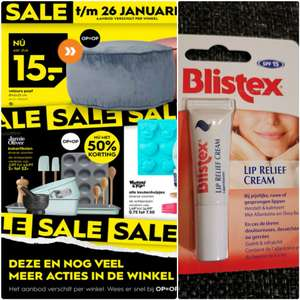 Blistex Lip Relief Cream assortiment €1,- p. st. @ Blokker