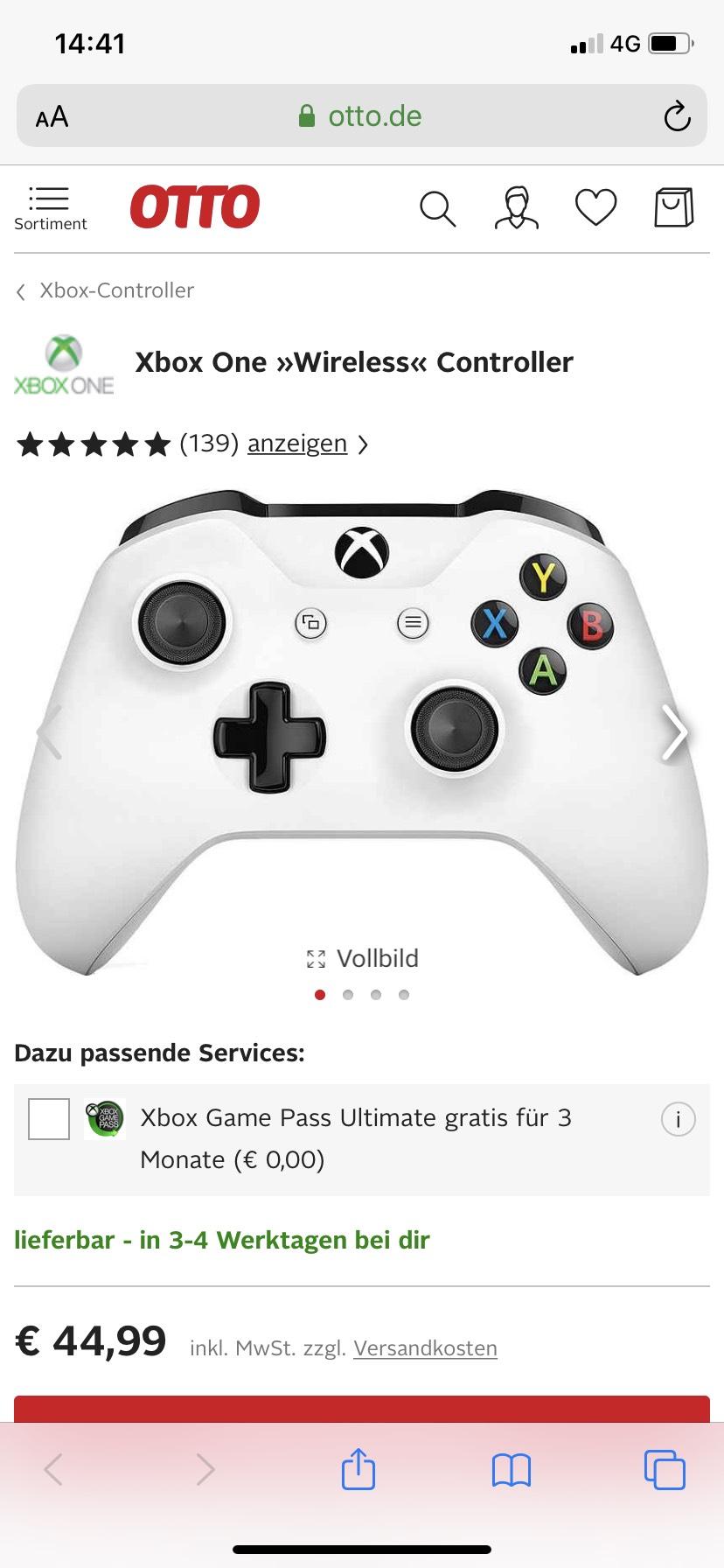 (GRENSDEAL) Xbox one controller + 3 maanden GamePass