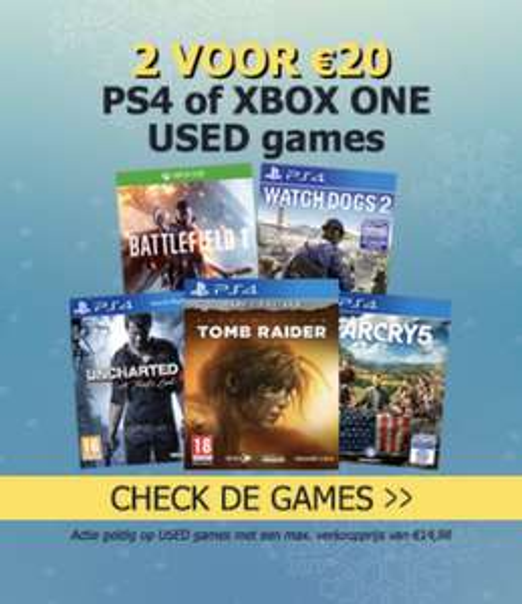 PlayStation 4 en Xbox one games 2 voor €20,00 Gamemania