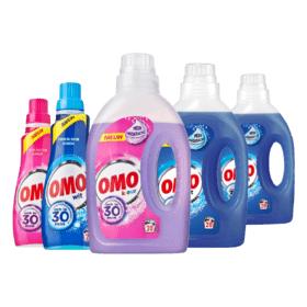 Alle Omo wasmiddel 5 flessen voor 9,99 bij de PLUS