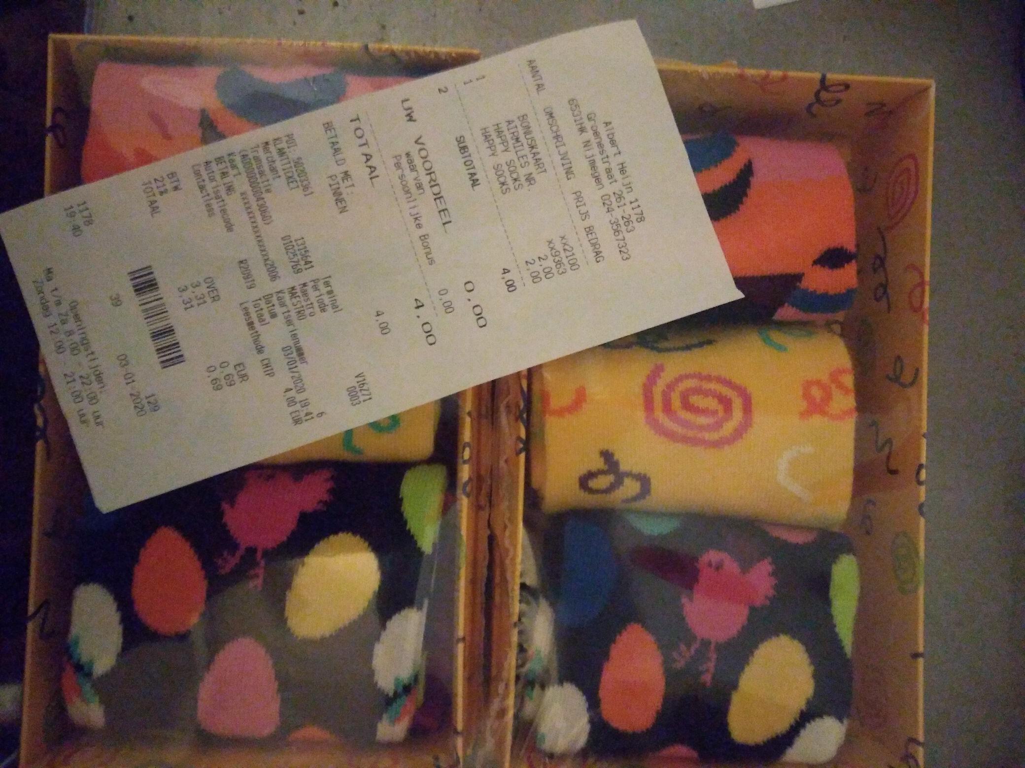[LOKAAL] Happy socks - 3 paar giftpack 2 euro - AH Nijmegen
