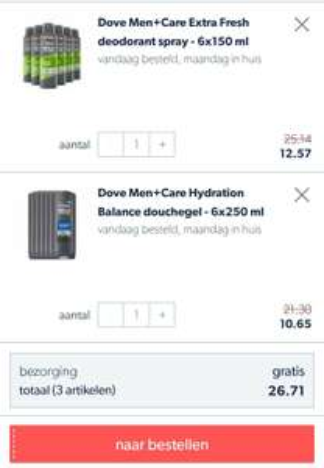 Dove For Men Deodorant of Douchegel 6-pack tegen zeer scherpe prijs.
