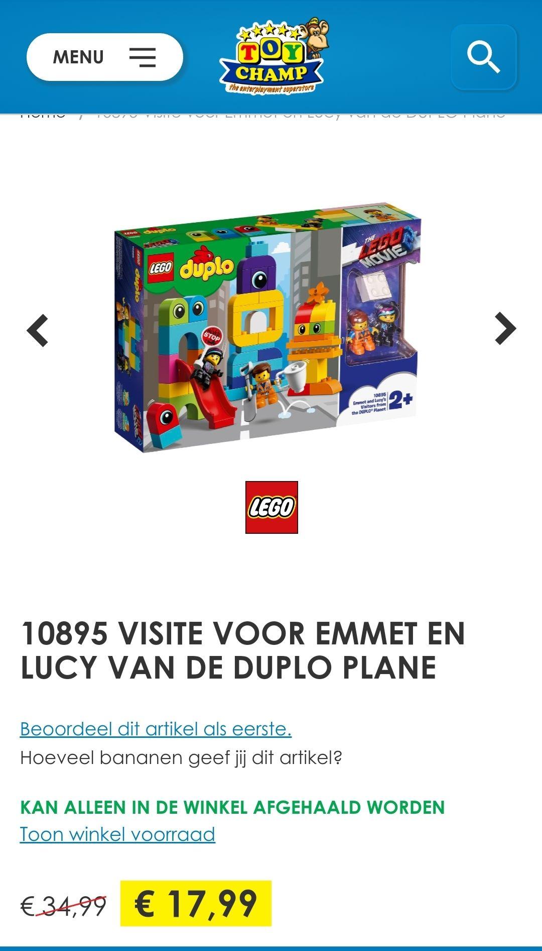 Duplo set Lego Movie Visite voor Emmet en Lucy