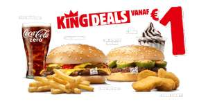 Burger King Deals: Cheeseburger €1 / Hamburger €1