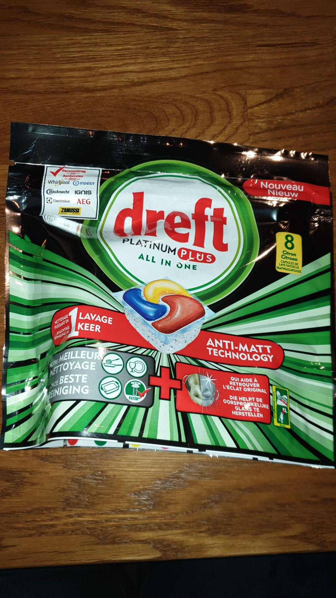 Kruidvat: Dreft platinum plus all in one : inhoud 8 stuks voor maar 1 euro