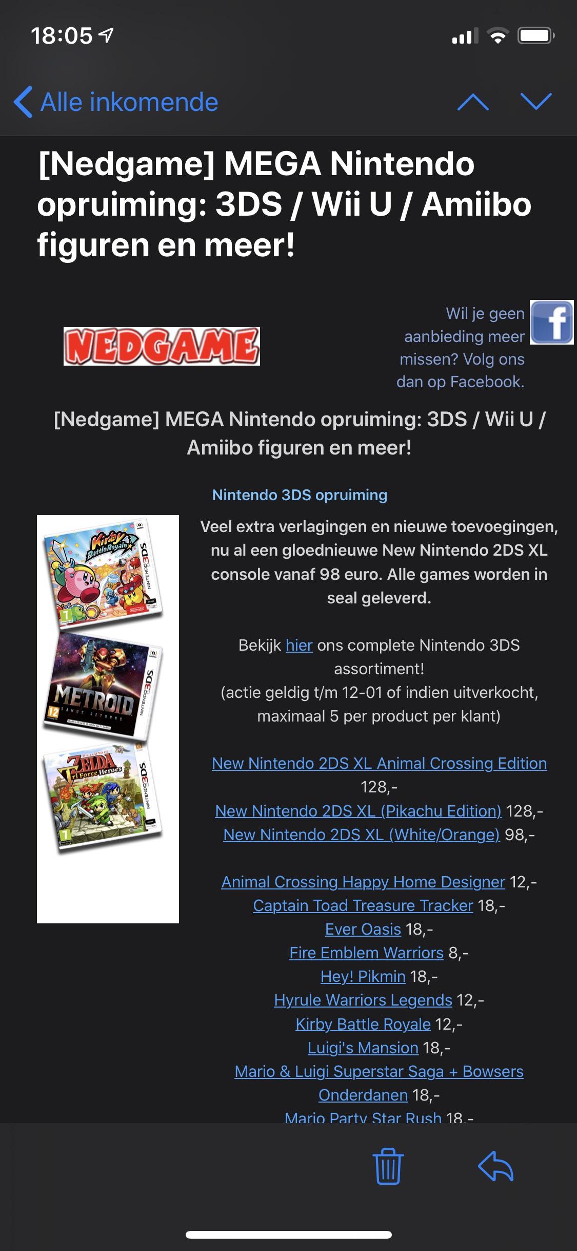 [Nedgame] MEGA Nintendo opruiming: 3DS / Wii U / Amiibo figuren en meer!