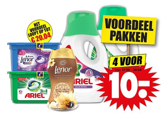 Wasmiddel 4 voor 10€ bij Dirk!
