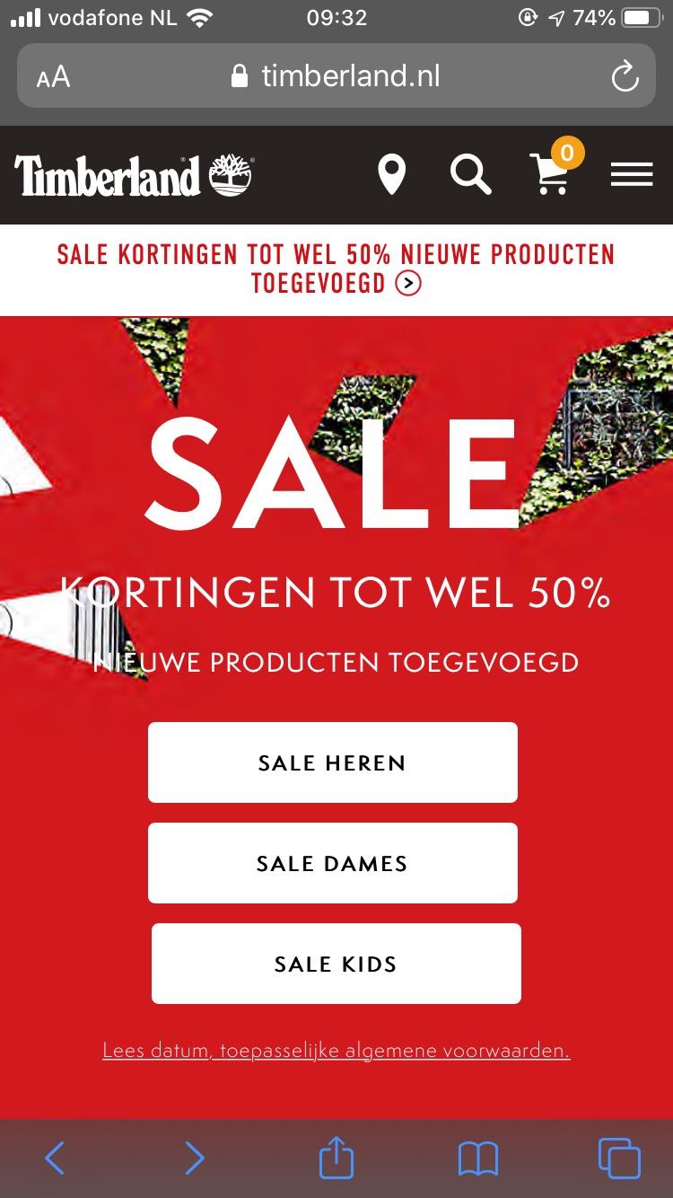 Sale op timberlands