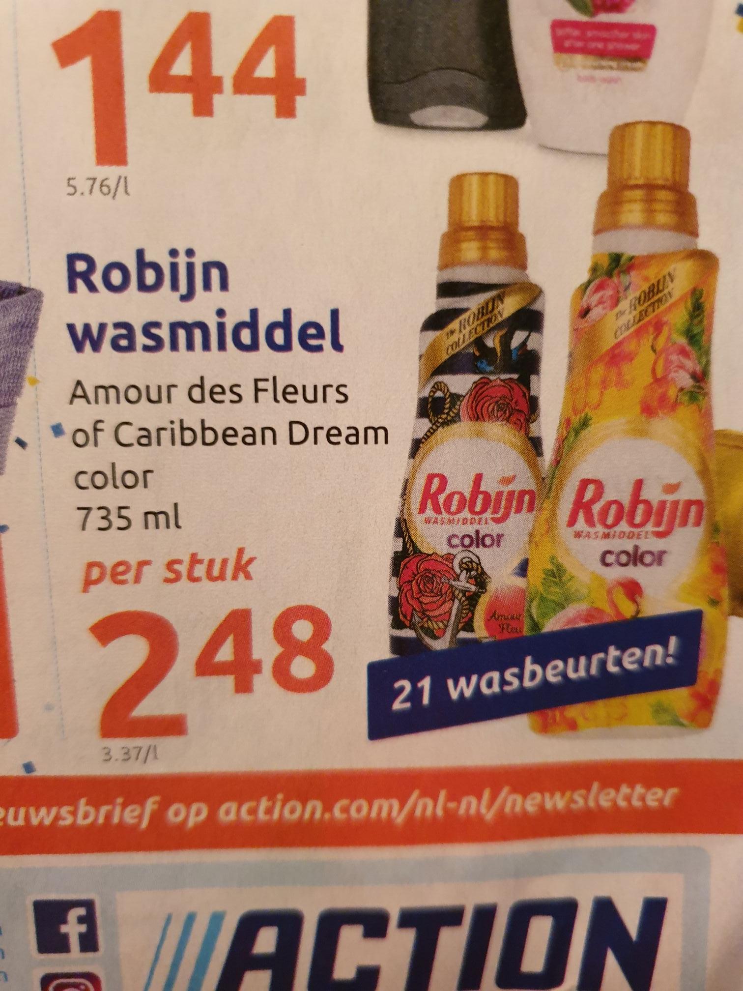 [Action] Robijn wasmiddel €2,48