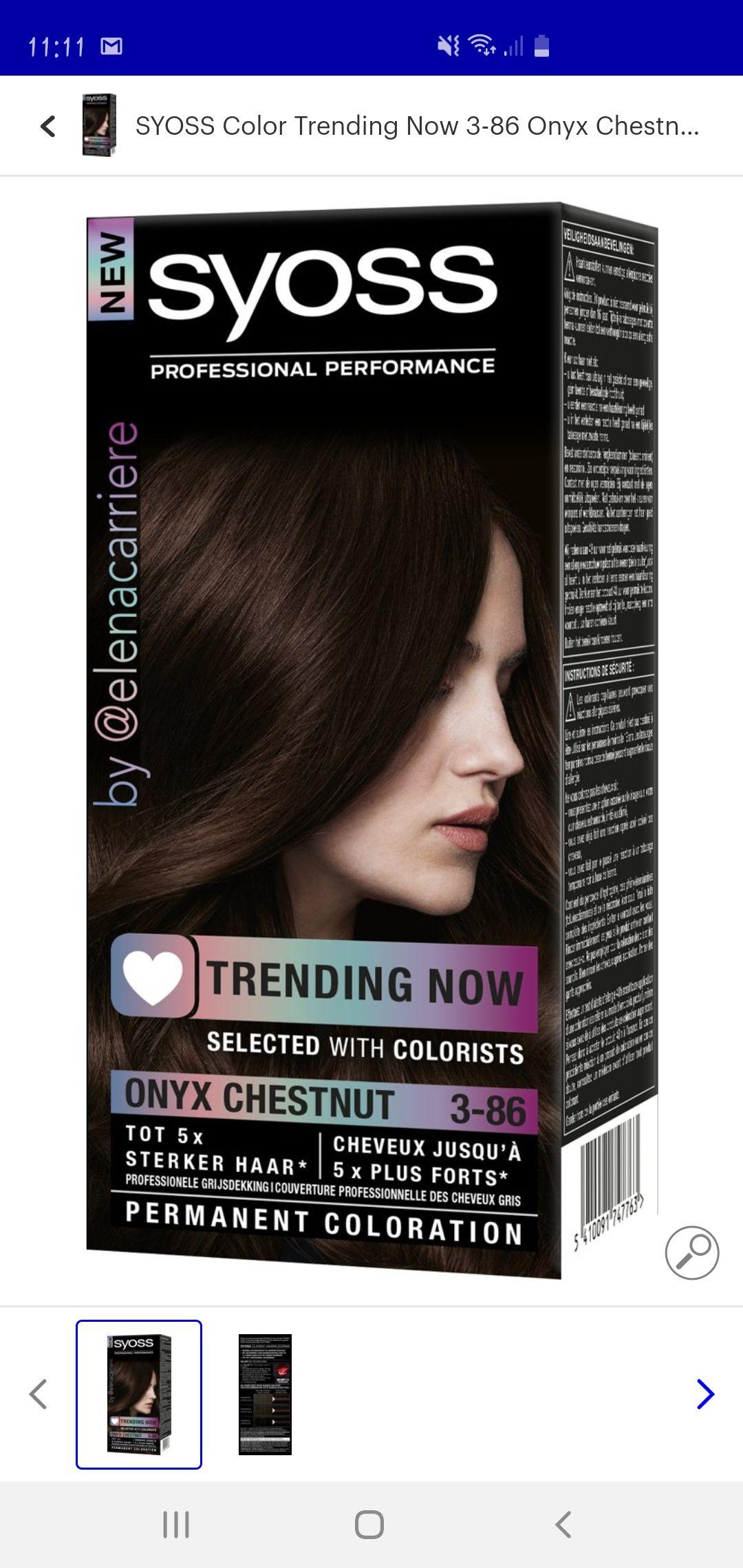 Syoss haarkleuring