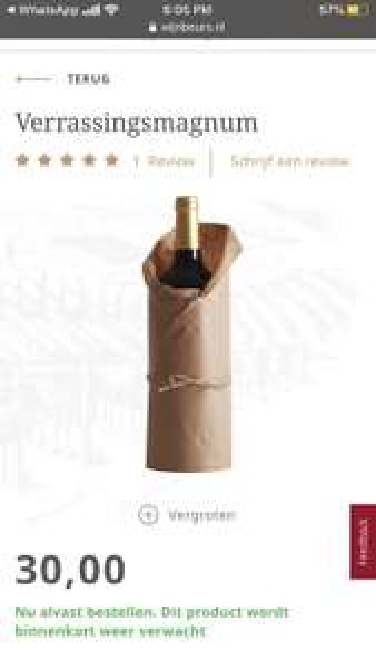 Gratis magnum fles wijn