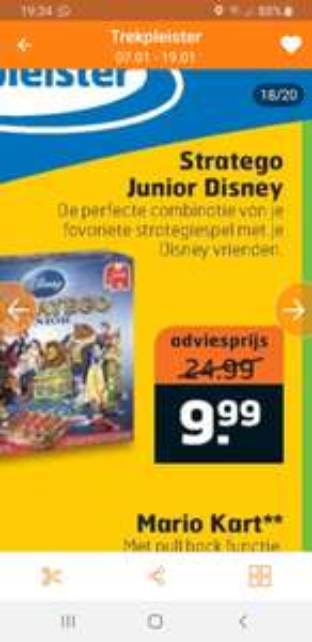 Stratego junior Disney €9.99 bij Trekpleister