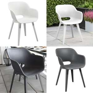 Set van 2 Allibert tuinstoelen (wit / antraciet) @ Big Bazar