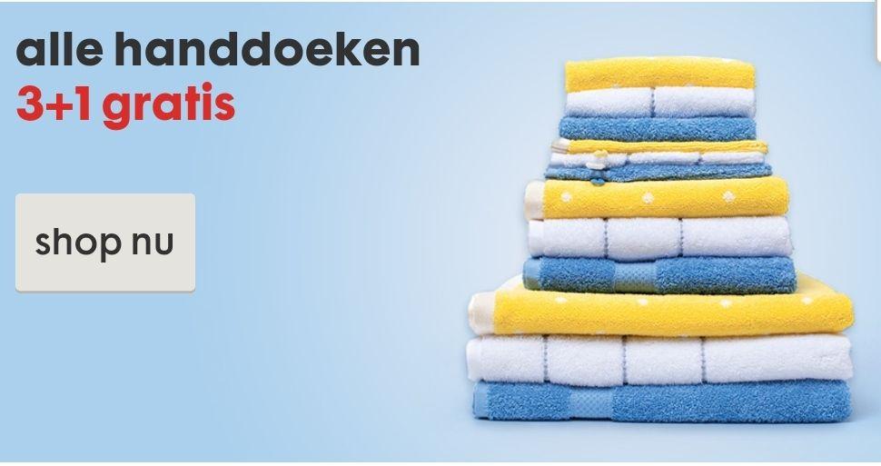 HEMA handdoeken 3+1 gratis