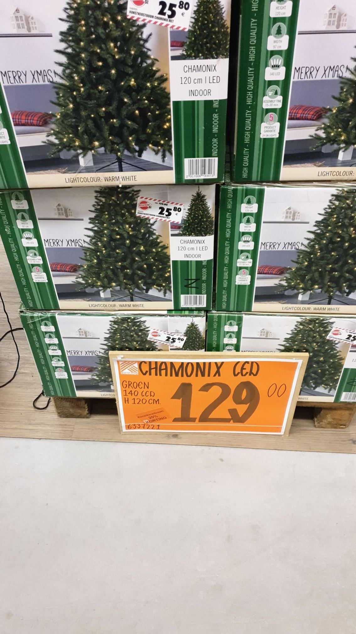 Hornbach kerstboom 120 cm inclusief lichtjes van 129 euro naar 25.80
