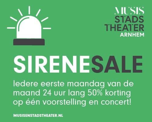 SireneSale --> kaarten voor de helft van de prijs