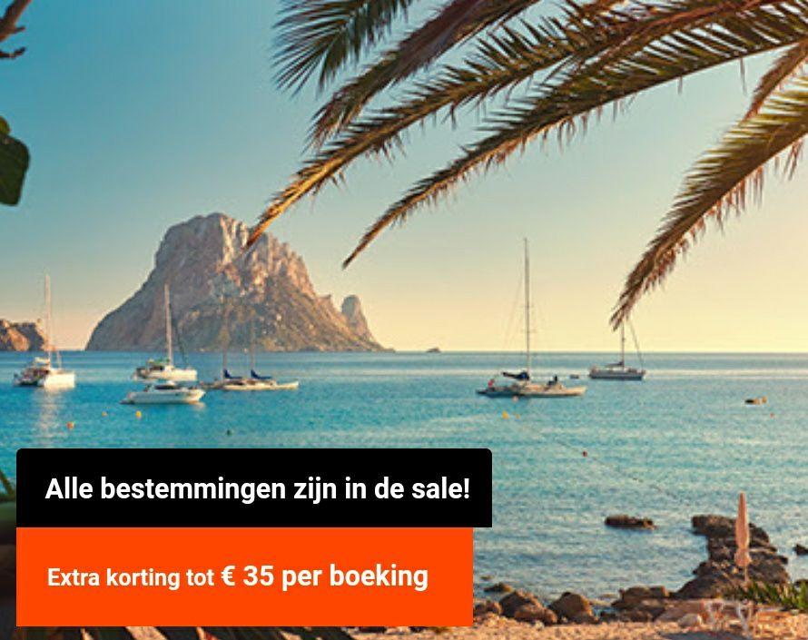 Vliegtickets tot €35 korting per boeking @Vliegtickets.nl