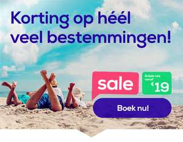 SALE! Transavia enkeltjes vanaf 19 euro inc handbagage
