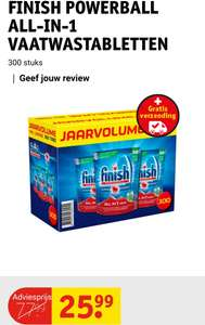 Jaarvolume Finish all-in-one powerball vaatwastabletten (300 st.)