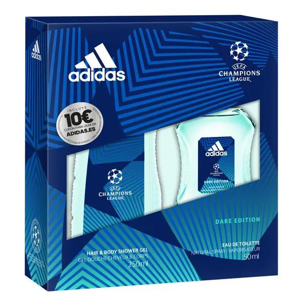 Adidas Uefa Champions League Dare Edition Geschenkset 1+1 gratis (én 10€ bon voor Adidas webshop) (Kruidvat België)