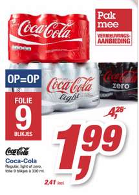 [UPDATE] Coca-Cola 9 x 330ml voor 2,11 bij Makro Groningen & Breda
