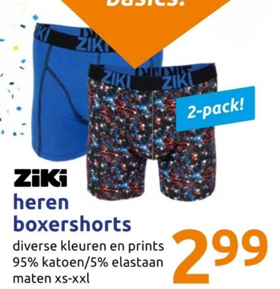 Ziki boxershorts 2 voor €2,99 @Action